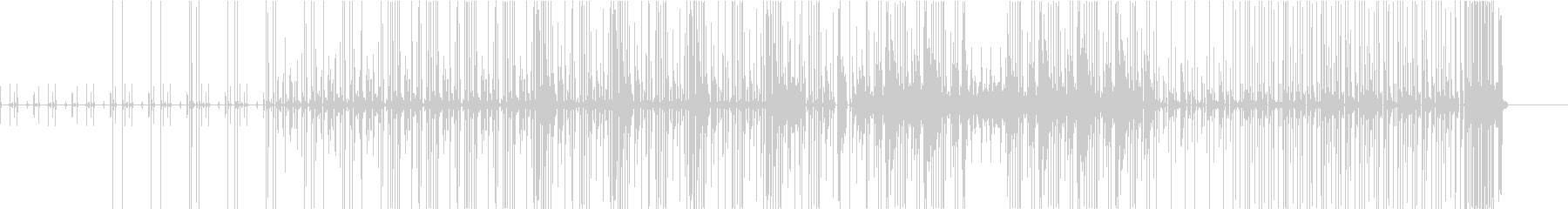 KANTボイスパーカッションBGMの未再生の波形
