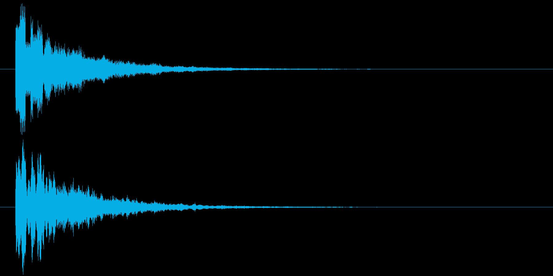 ピロリ③(スタート・クリア・一時停止)の再生済みの波形
