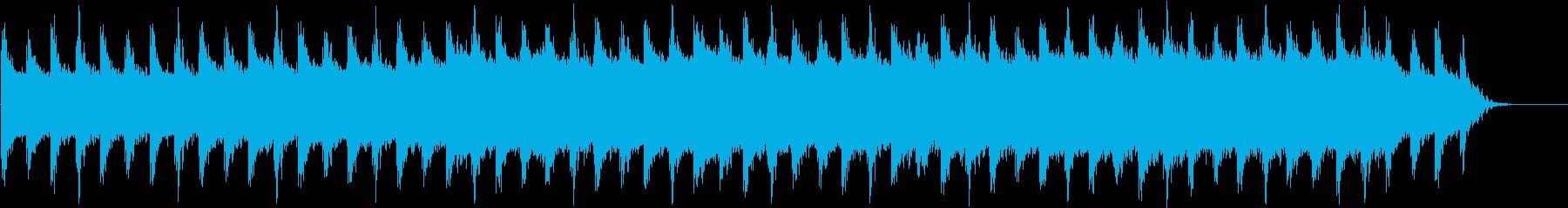 神秘的な歌声のテクスチャーアンビエントの再生済みの波形
