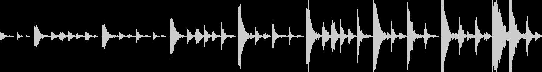 ドラムンベースのリズムループパターン#3の未再生の波形