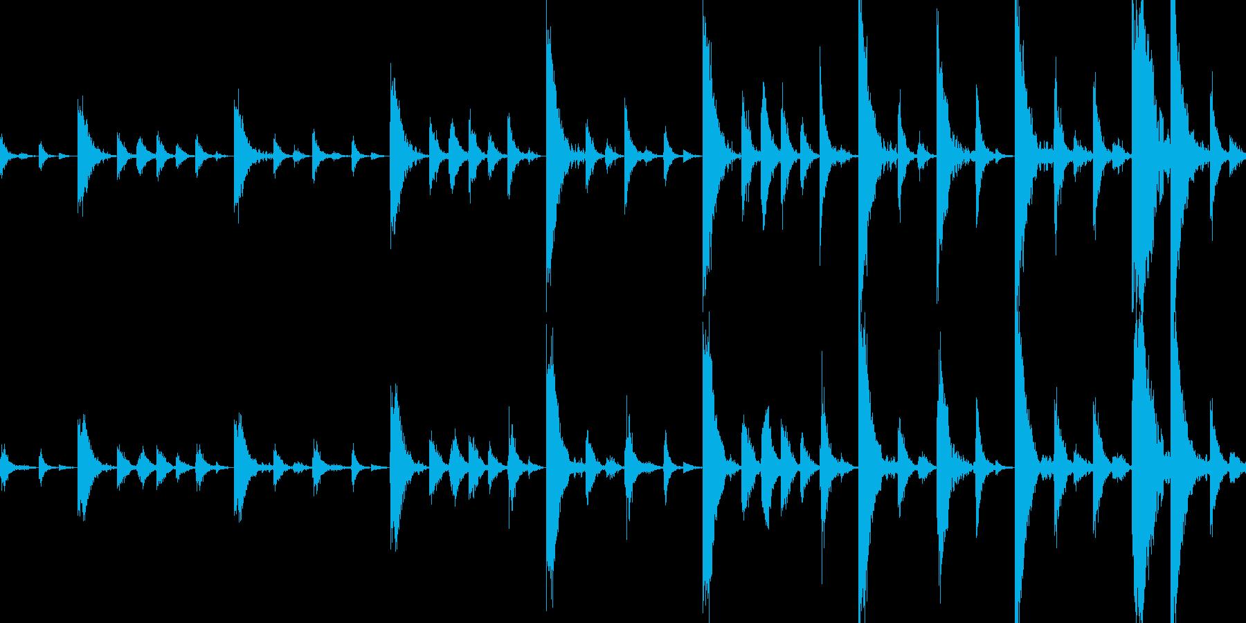 ドラムンベースのリズムループパターン#3の再生済みの波形
