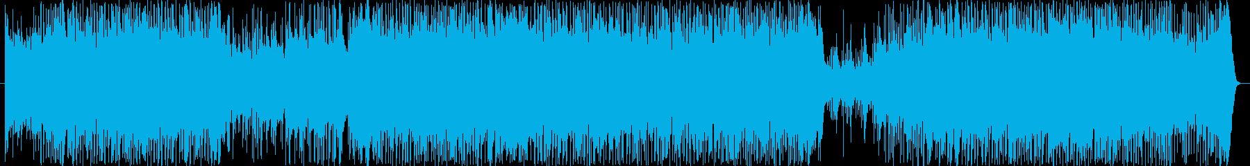 爽快なポップロックの再生済みの波形