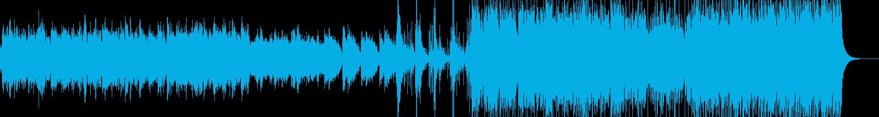 ゆったり和風BGMの再生済みの波形