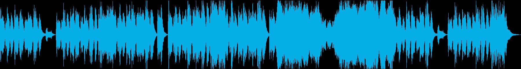困惑した不穏な場面に適したオーケストラ曲の再生済みの波形