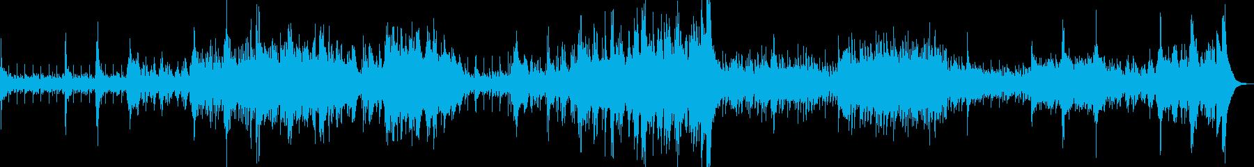 「風」を表現した疾走感あるオーケストラの再生済みの波形
