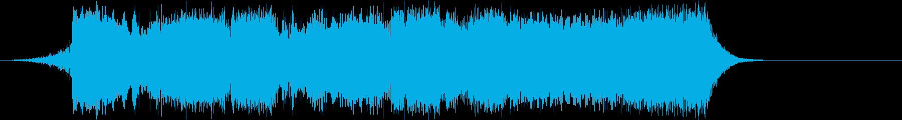 ピンチシーンのRPG系オーケストラBGMの再生済みの波形