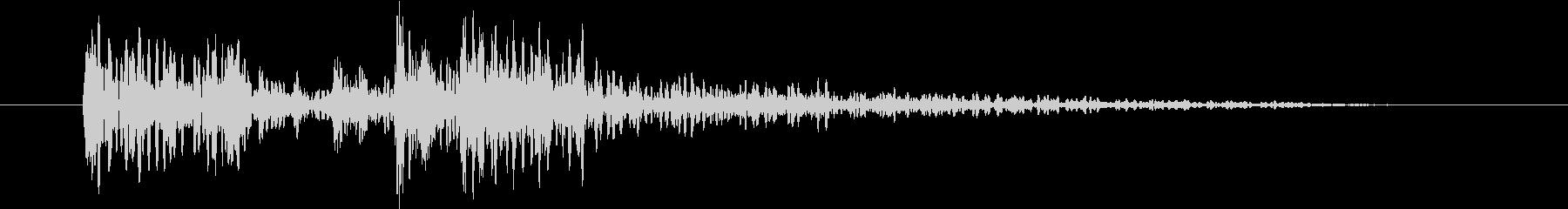 YouTubeのタイトル用ドラムSEの未再生の波形