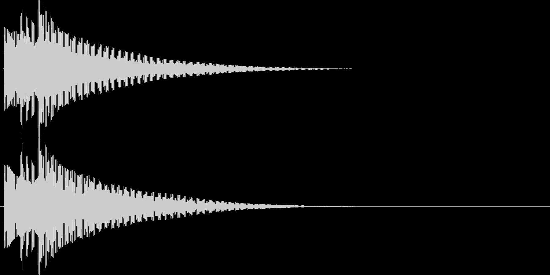 チャラリン(お知らせアラート音ベル2)の未再生の波形