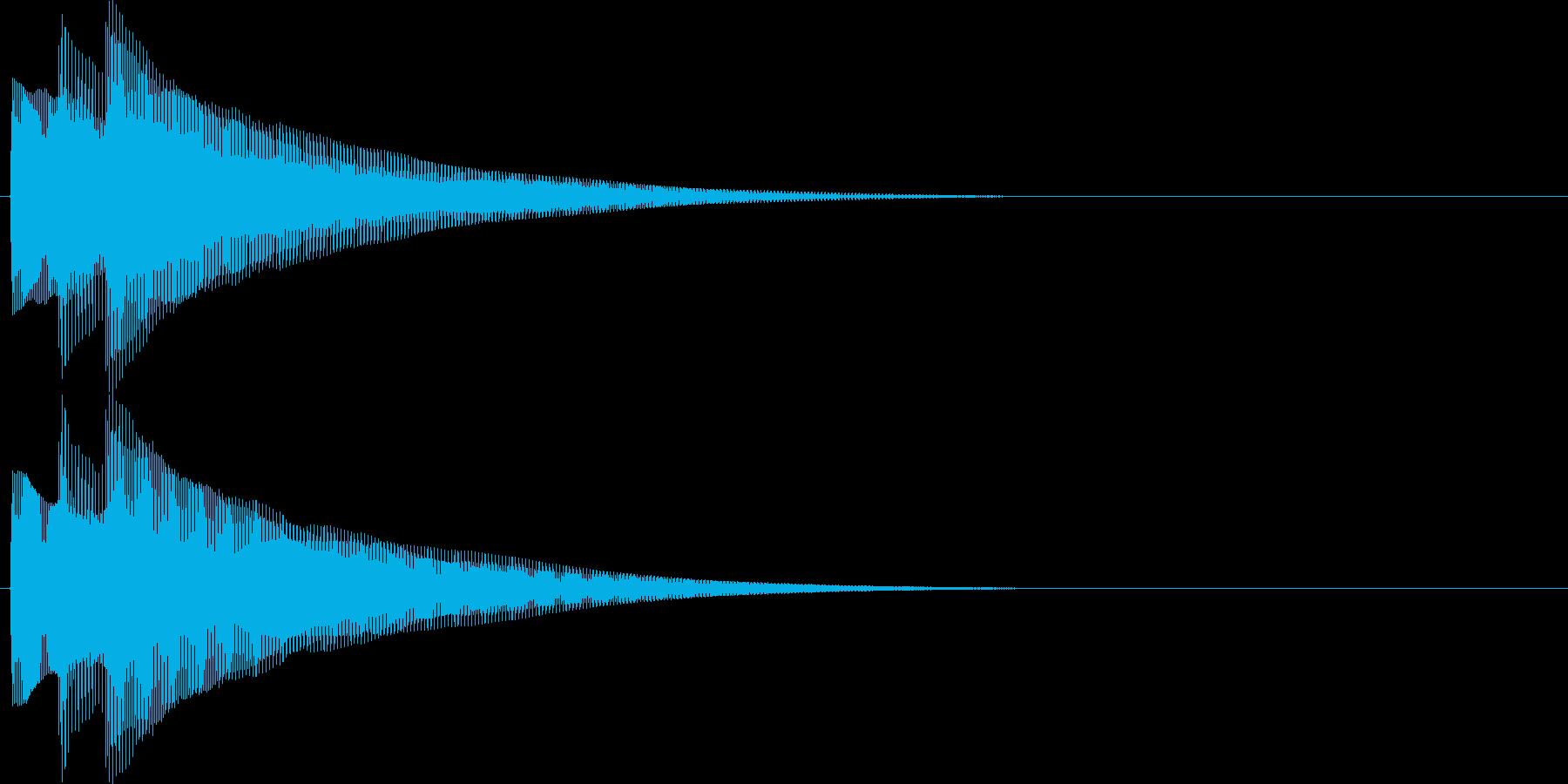 チャラリン(お知らせアラート音ベル2)の再生済みの波形