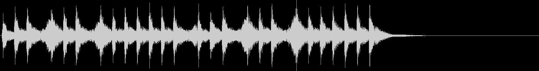 三三七拍子×2(速)太鼓+手拍子+笛+声の未再生の波形