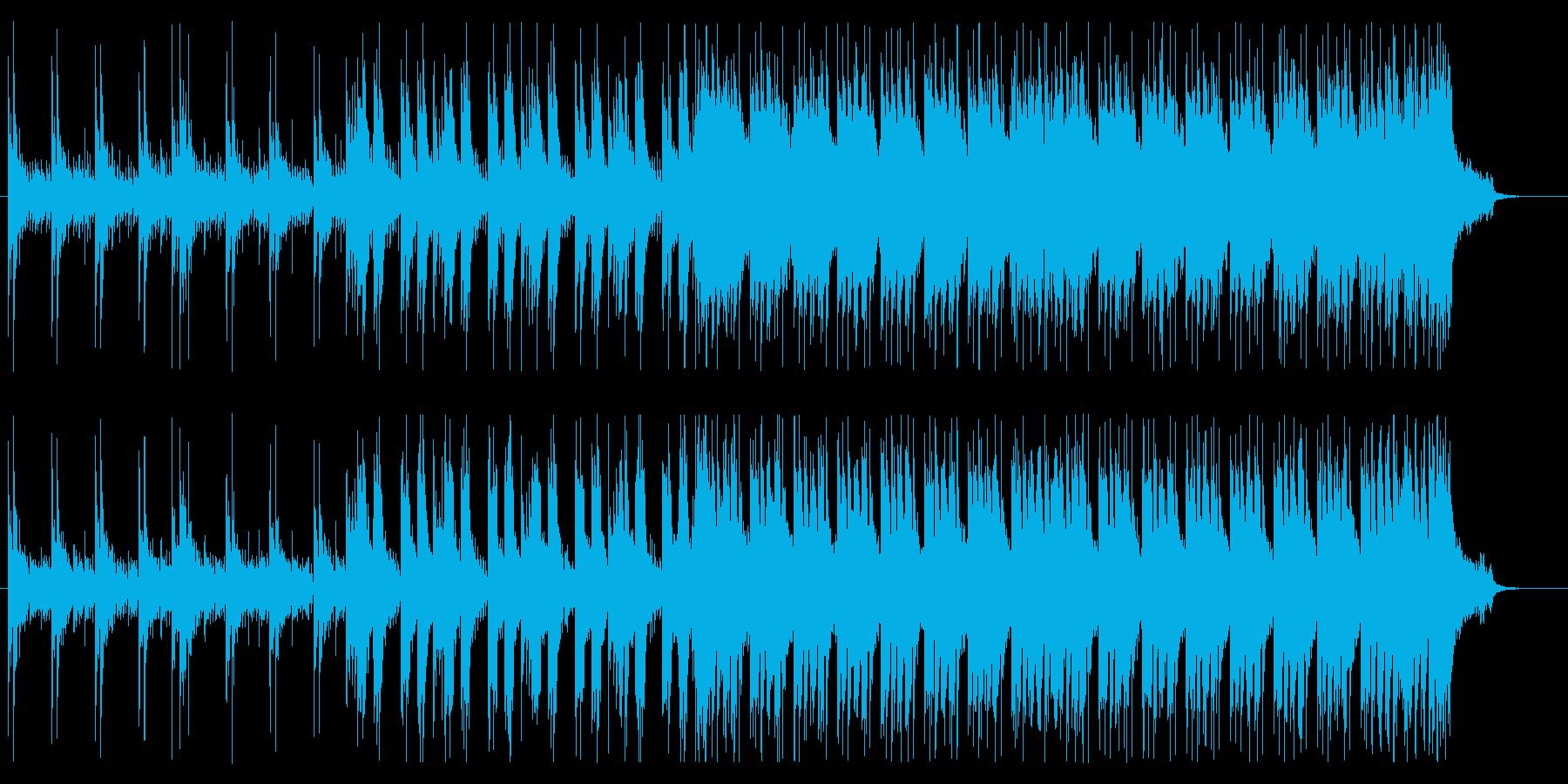 生死を分けるような緊張の局面的なBGMの再生済みの波形