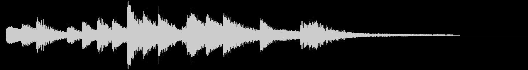 童謡・赤とんぼモチーフのピアノジングルAの未再生の波形