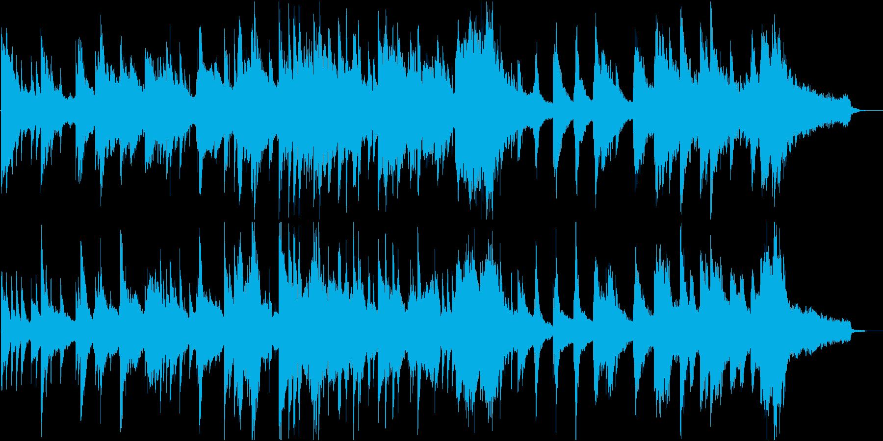 静かなピアノソロ。夜の光のイメージの再生済みの波形