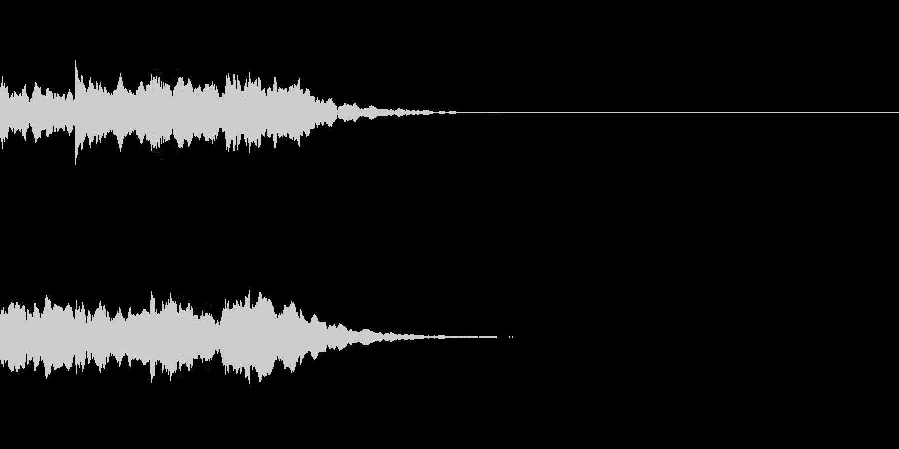 ピンポンパンポン シンセ 下降の未再生の波形