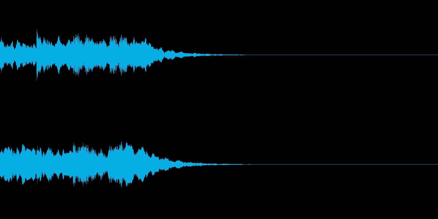 ピンポンパンポン シンセ 下降の再生済みの波形