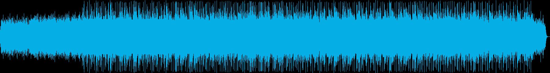 優しく明るい和風BGMの再生済みの波形