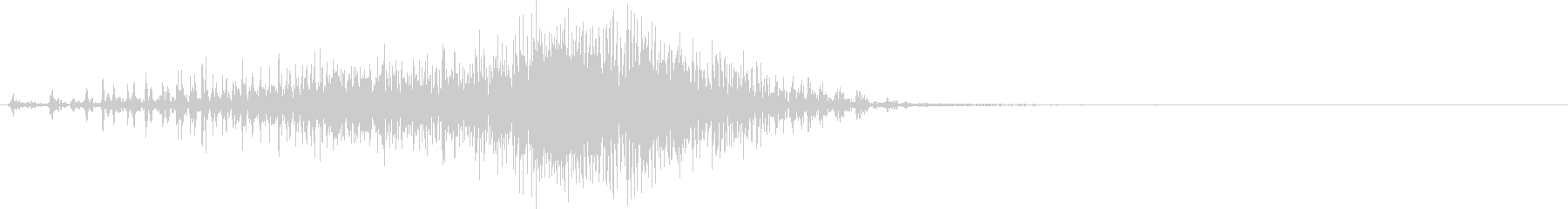 ジッパーの効果音 04の未再生の波形