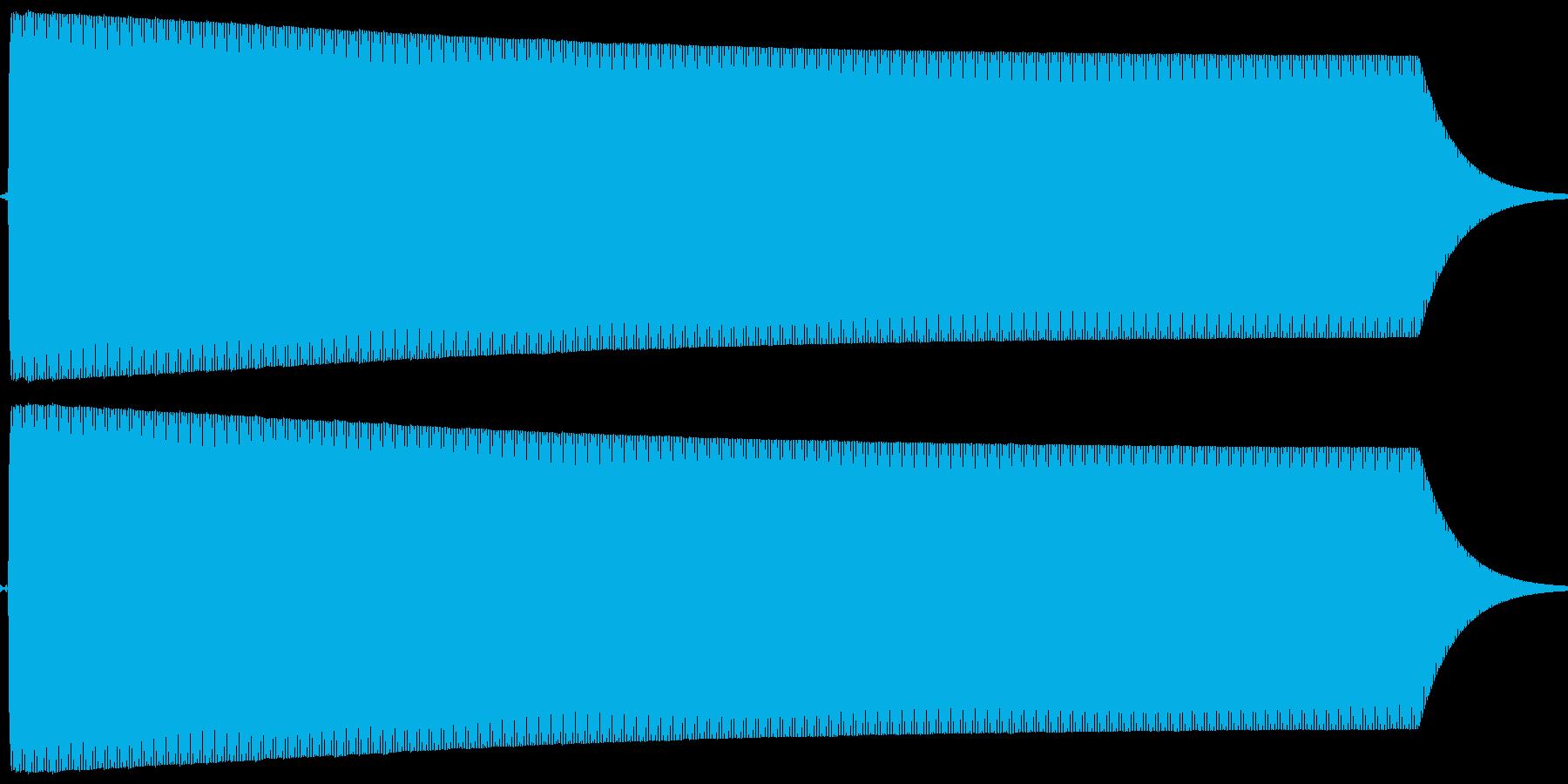 ピー。放送禁止・自主規制音(高・短)の再生済みの波形