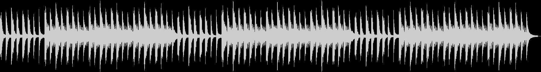 幻想的で切ないピアノの旋律の未再生の波形