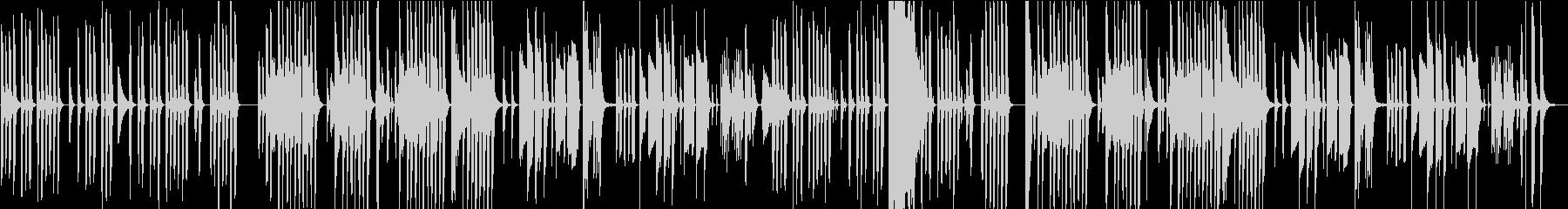 ほのぼのとコミカルで素朴な不思議な曲の未再生の波形