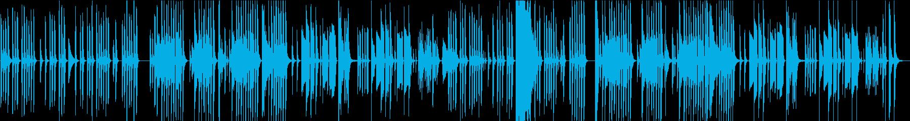 ほのぼのとコミカルで素朴な不思議な曲の再生済みの波形