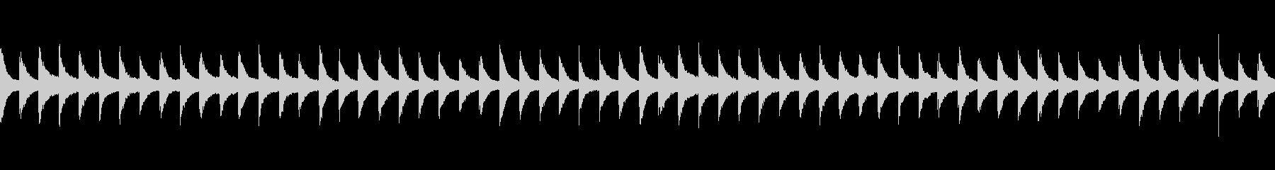 恐怖をあおる鉄琴(グロッケンシュピール)の未再生の波形