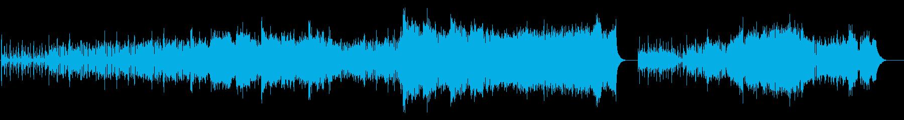 バグパイプを使った行進曲的なBGMの再生済みの波形