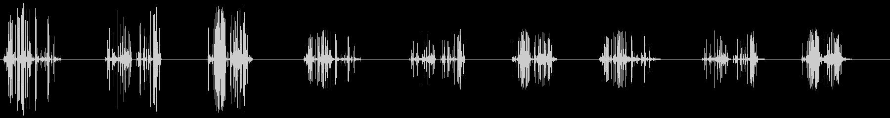 クリスタルが地面に落ちる-休憩の未再生の波形