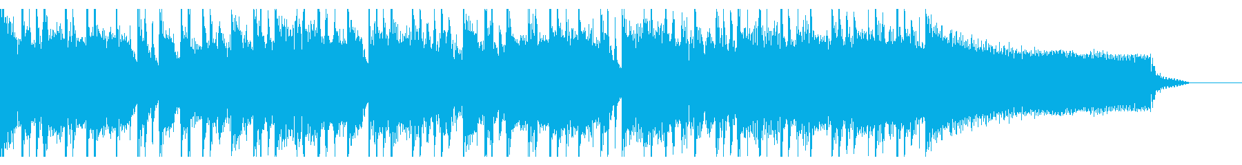 エネルギッシュで盛り上がるサウンドの再生済みの波形