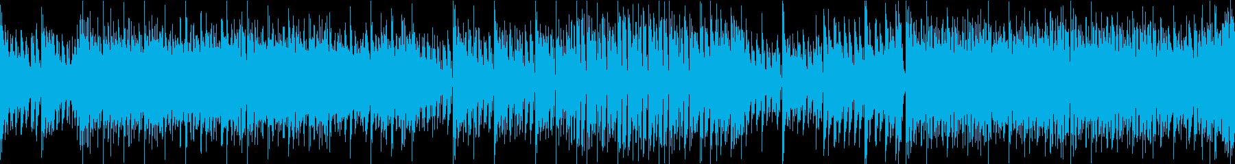 近未来のSF戦闘曲/浮遊感/ループ可の再生済みの波形