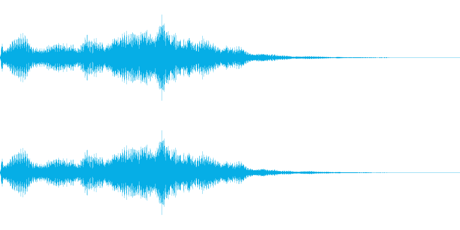 ほわーん(恋に落ちる音)の再生済みの波形