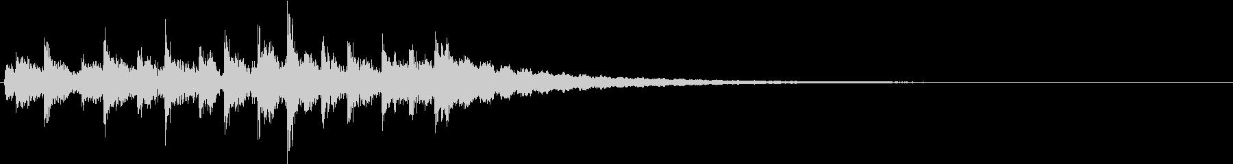 サックフライ:カウベル、ショートラトルの未再生の波形