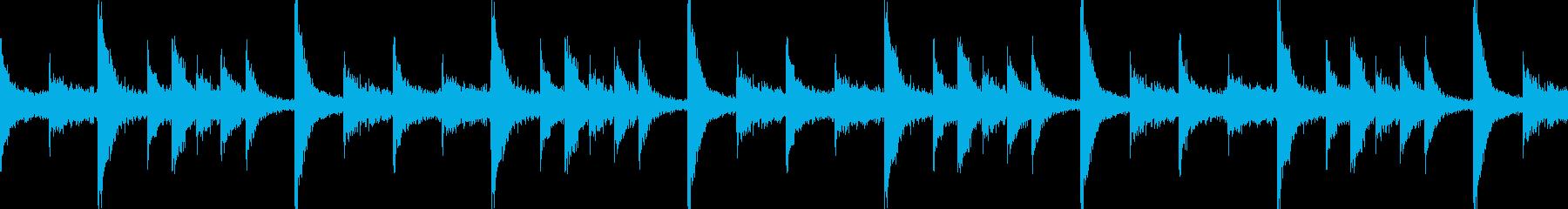 ドラムンベースのリズムループパターン09の再生済みの波形