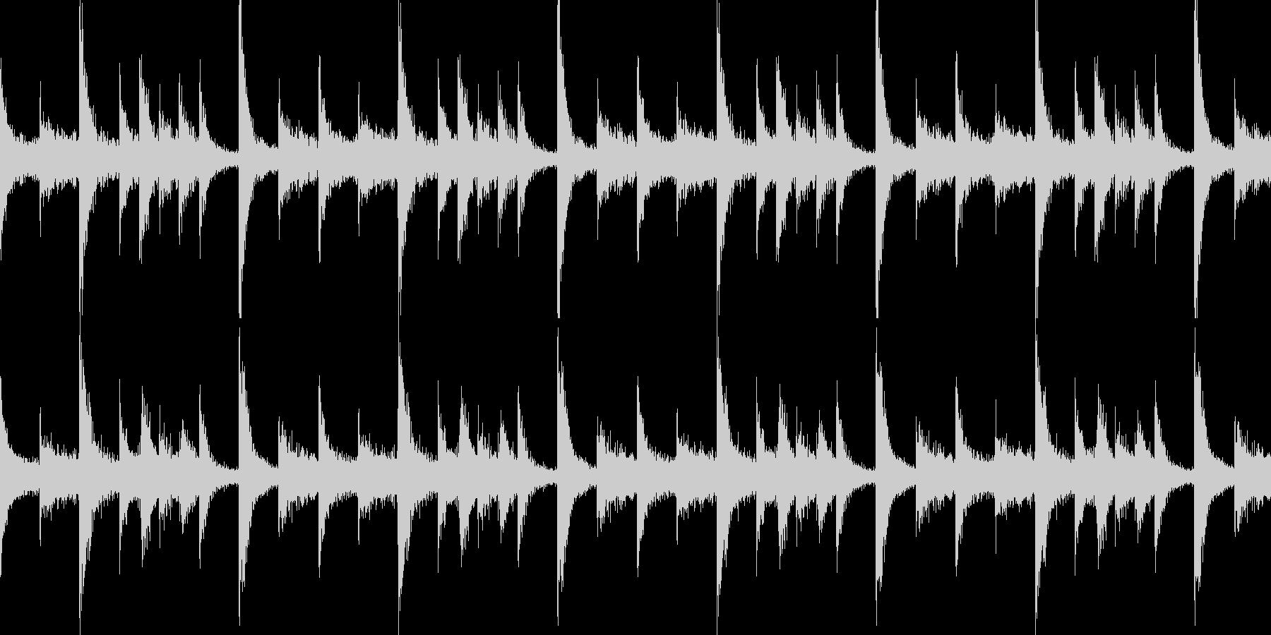 ドラムンベースのリズムループパターン09の未再生の波形