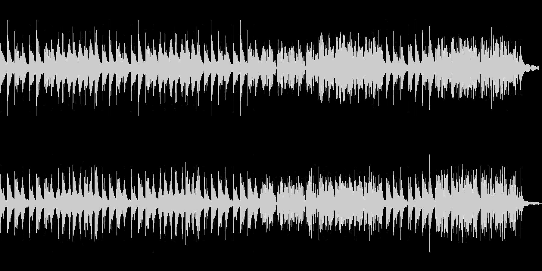 切ないピアノソロ曲の未再生の波形