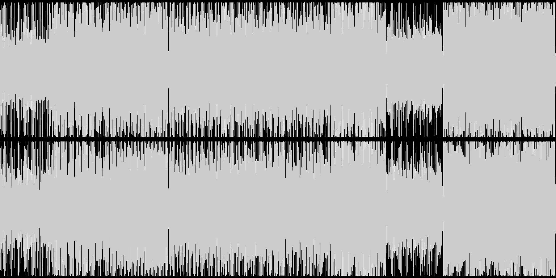ダークな雰囲気のハイテンポな戦闘曲ループの未再生の波形