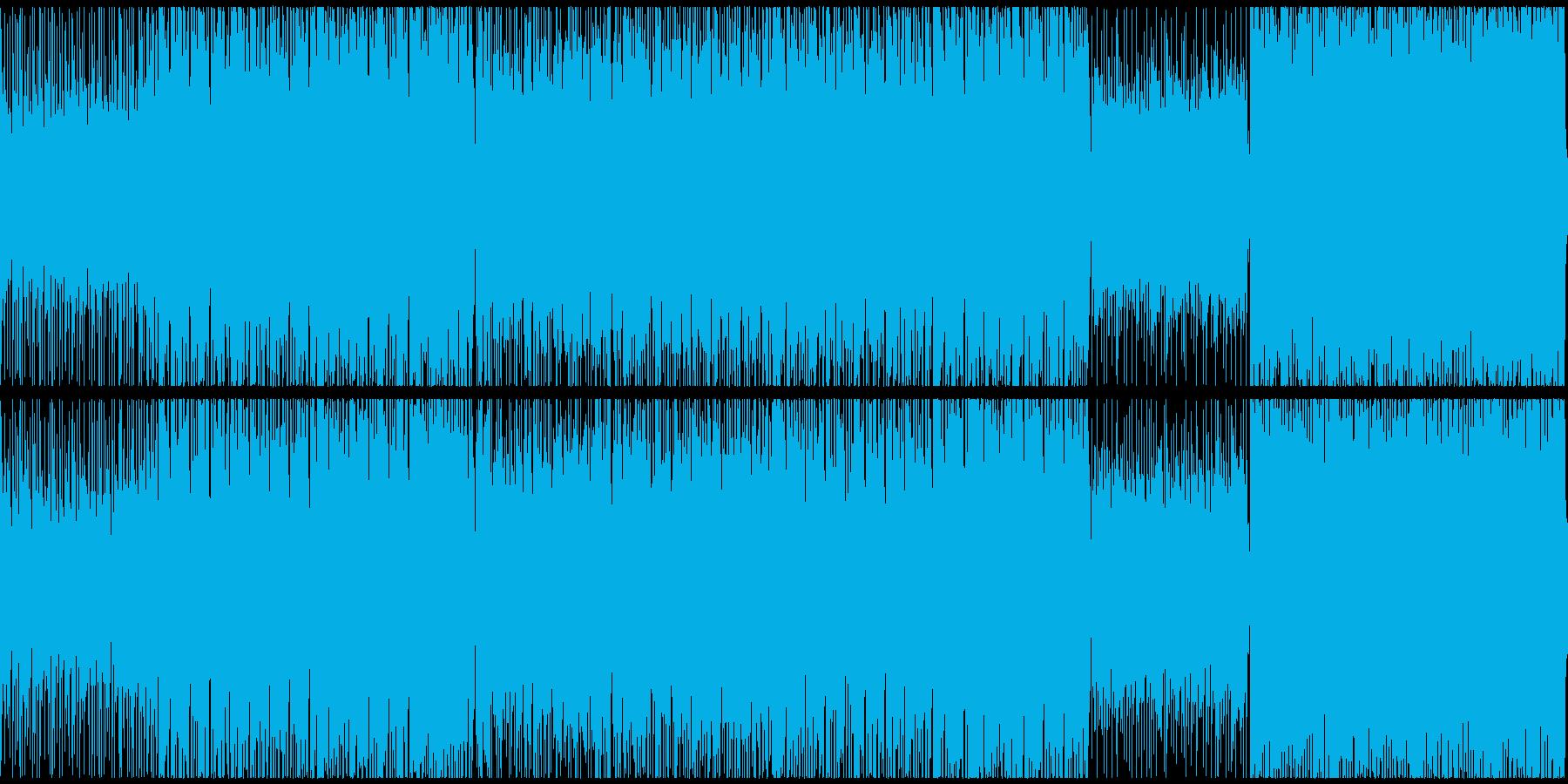 ダークな雰囲気のハイテンポな戦闘曲ループの再生済みの波形