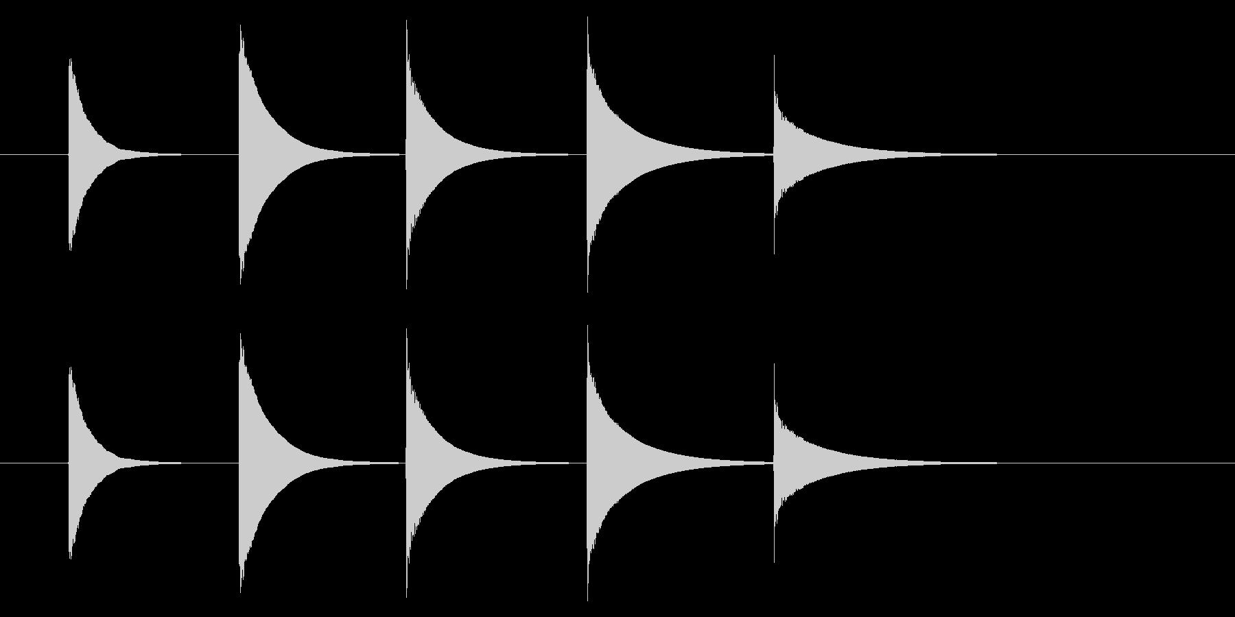 チャイム アナウンス08-4(5点 速いの未再生の波形