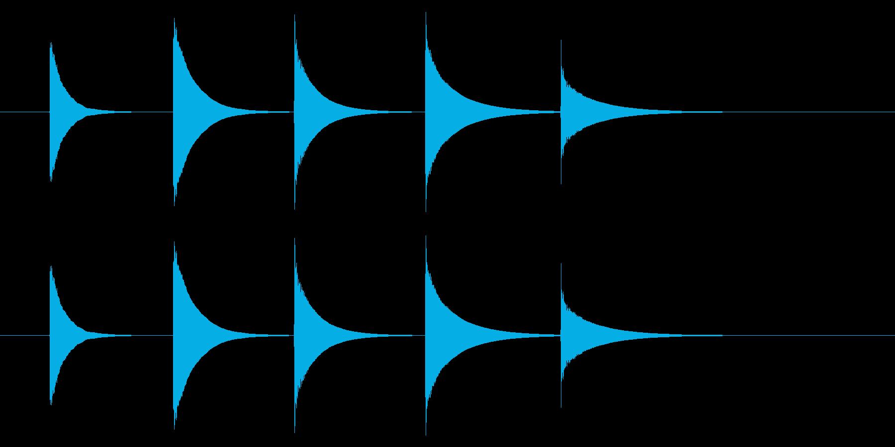 チャイム アナウンス08-4(5点 速いの再生済みの波形