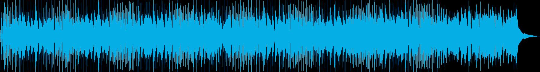 陽炎が揺れる景色をイメージしたBGMの再生済みの波形