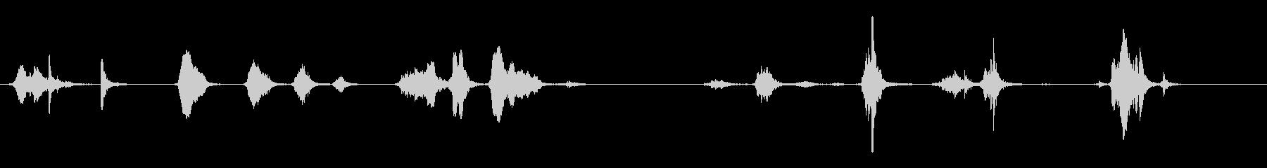 さまざまな短い擦り音の未再生の波形