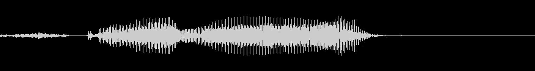 きかねえよ(挑発的)の未再生の波形