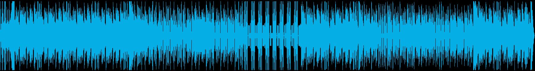 ドライブにぴったりな軽快なEDMの再生済みの波形