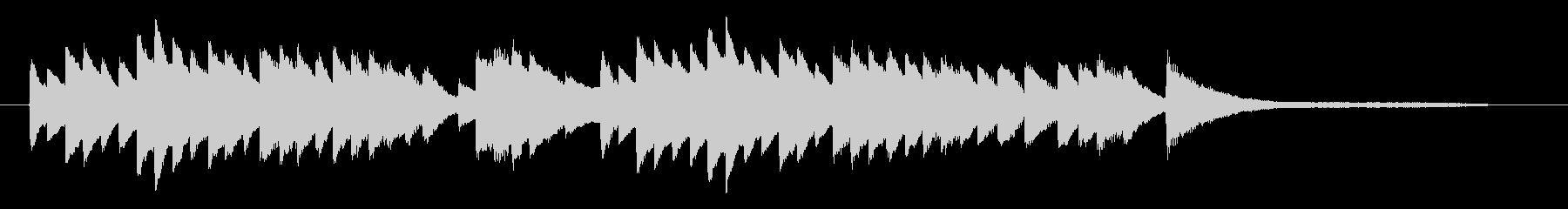回想シーンにピッタリなピアノソロの未再生の波形