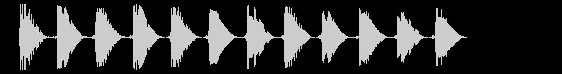8ビット風システム音-16-1_dryの未再生の波形
