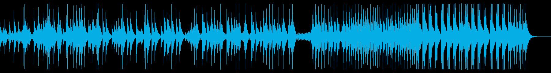 速いリズムの大太鼓ソロの再生済みの波形