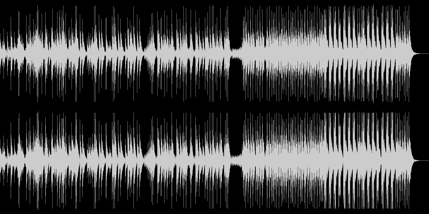 速いリズムの大太鼓ソロの未再生の波形