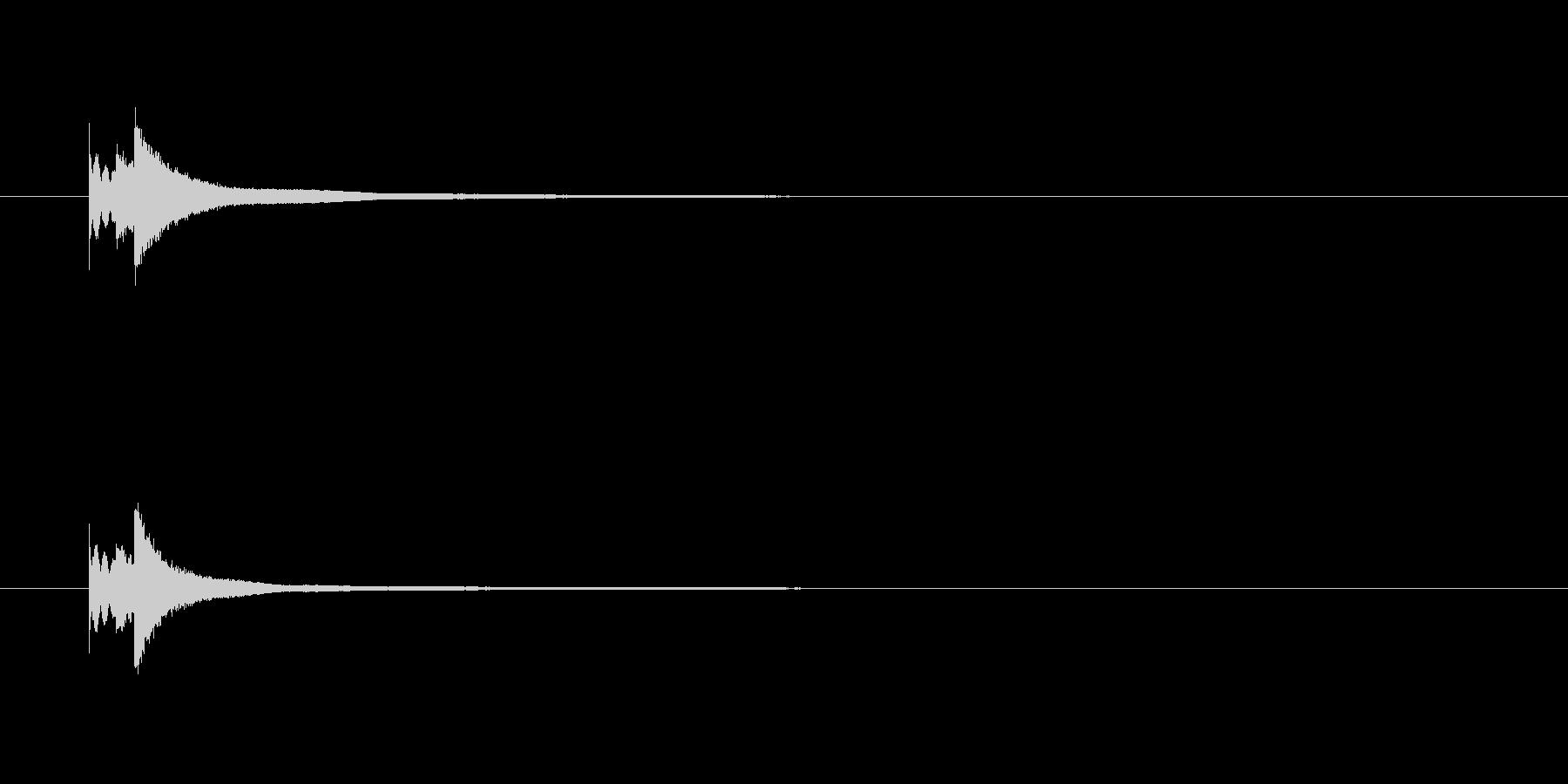 キラリーン【きらびやかな鉄琴の効果音】の未再生の波形