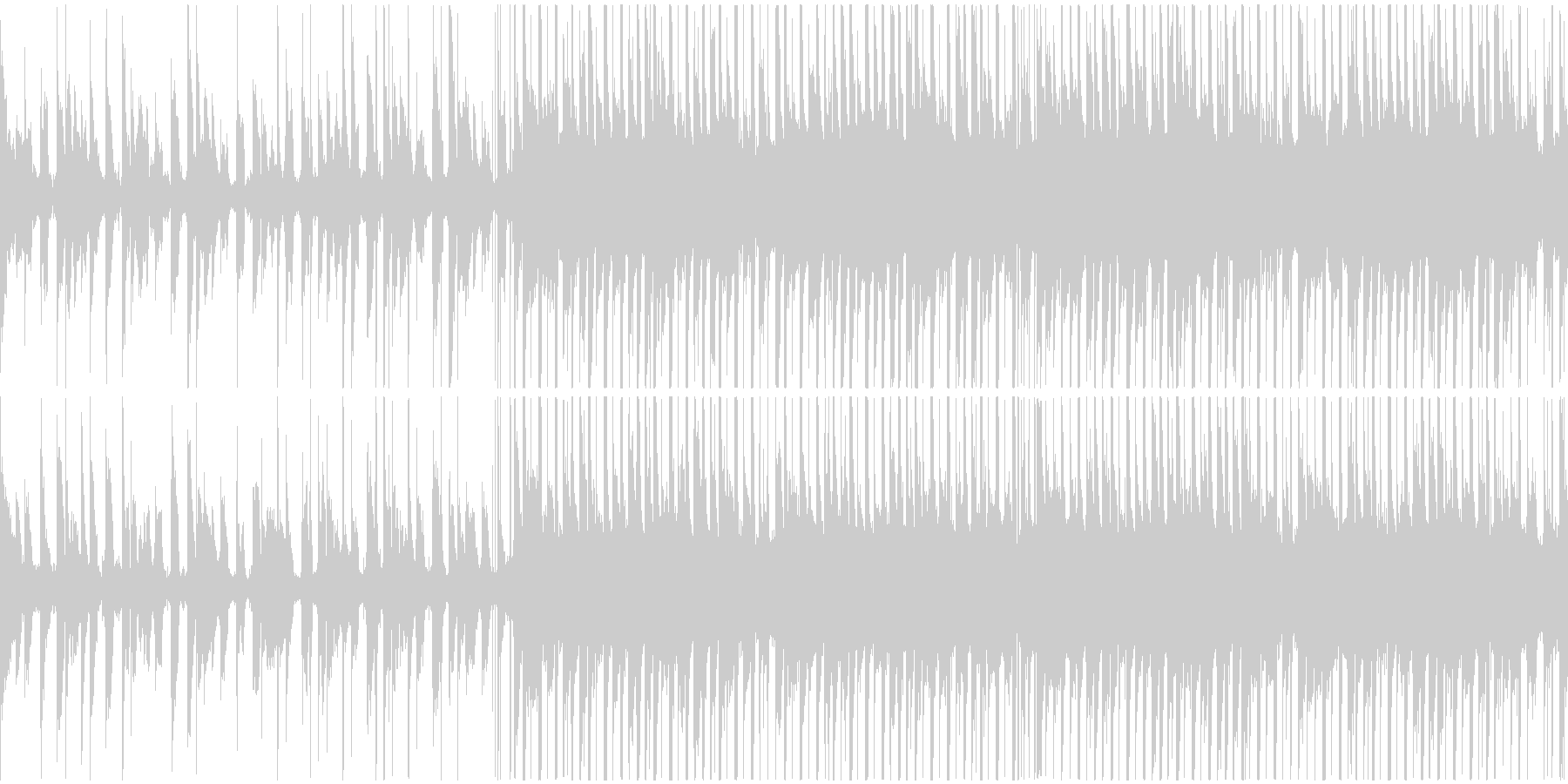 トロピカルでチルいハウスのループの未再生の波形