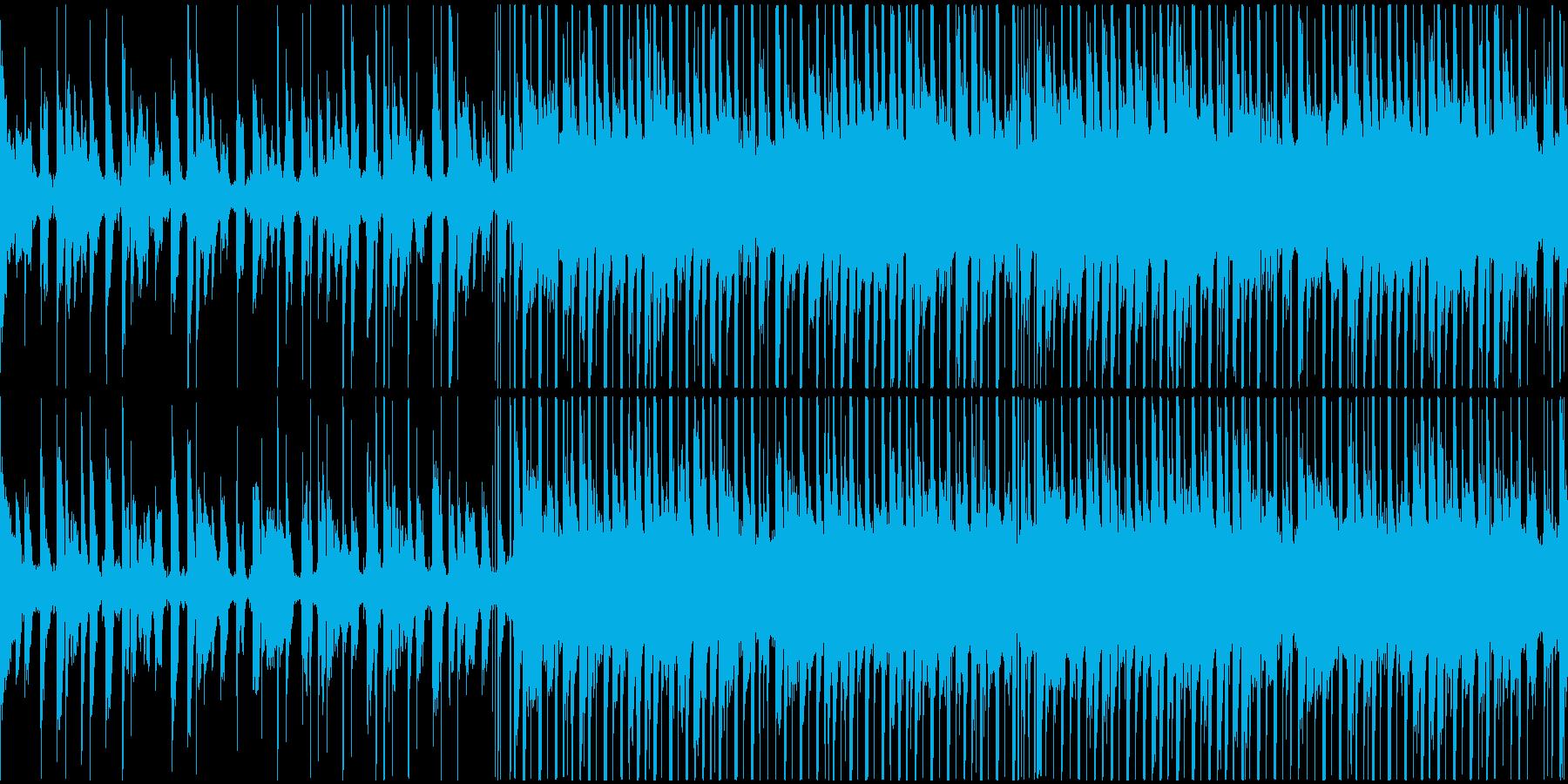 トロピカルでチルいハウスのループの再生済みの波形